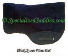 Black Square Fleece Saddle Pad