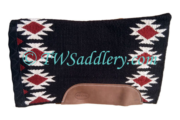 TW Saddlery Burgundy Black Navajo Saddle Pad