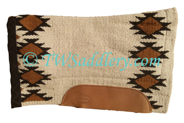 TW Saddlery Cream Black Navajo Saddle Pad