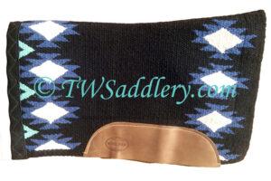 TW Saddlery Blue Black Navajo Saddle Pad