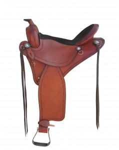 Trail Riding Saddles TW Saddlery Featherweight Trail w/Barbewire Edge Tooling & strings