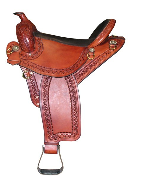 TW Saddlery Featherweight Trail Southwest Edge tooling no strings